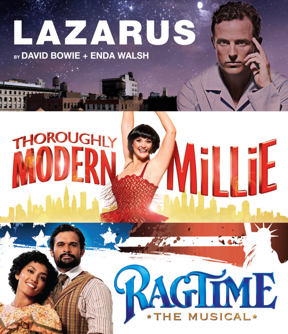 Lazarus, Thoroughly Modern Millie and Ragtime