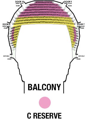The State Theatre Balcony Map